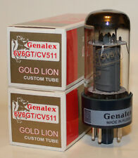 Matched Pair Genalex Gold Lion 6V6GT / CV511 / 6V6 tubes, BRAND NEW