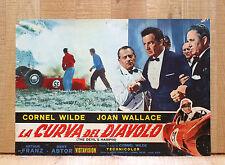 LA CURVA DEL DIAVOLO fotobusta poster The Devil's Hairpin Car Race Smash BV4