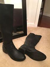 NEW Vera Wang New black womans riding boots embelished 8 $99 msrp b97