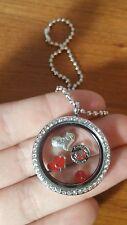 Marine wife - husband - marines jar head floating living memory locket necklace