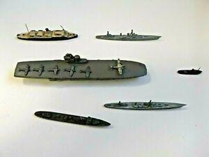 Small Vintage Metal Air Craft Carrier Fleet - Unbranded