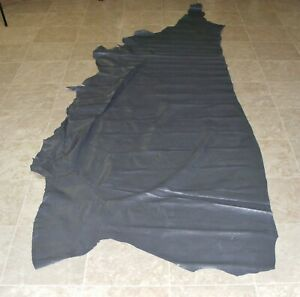 (TXE7119-2) Side of Dark Grey Printed Cow Leather Hide Skin