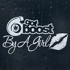 Got Boost By A Girl Kiss Lips Funny Car Decal Vinyl Sticker For Bumper Window