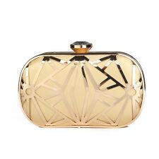 alta qualità donna color oro cristallo borsetta pochette da sera