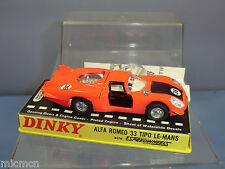 "Dinky Toys Modelo No.210 Alfa Romeo 33 tipo"" ""Le-Mans MIB"