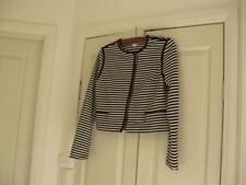Cotton Machine Washable Striped Regular Coats & Jackets for Women