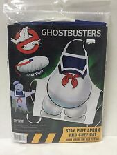 Cryptozoic GHOSTBUSTERS Stay Puft Apron & Chef Hat New BBQ Costume Halloween