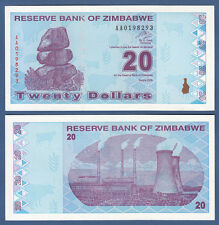 SIMBABWE / ZIMBABWE 20 Dollars  2009  UNC  P.95