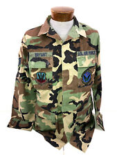 MILITARY USAF ACU ARMY COMBAT UNIFORM HOT WEATHER COAT WOODLAND CAMO MED. X-LONG
