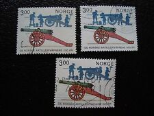 NORVEGE - timbre yvert et tellier n° 877 x3 obl (A30) stamp norway