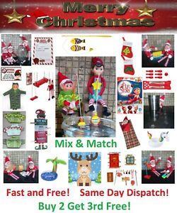 Elf Accessories Props Elf mates On Shelf Ideas Advent Toy Christmas Game Jokes