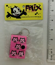 Vintage 1990's Collectible Felix The Cat Mini Key Chain Note Book