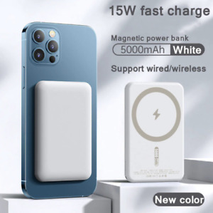 Portable Magnetic Wireless Power Bank 5000mah For Apple iPhone 13 12