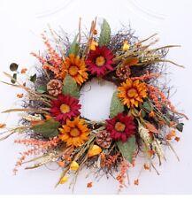 Artificial Sunflower Wreath Door Hanging Flower Garlands Houseplants Home Decor
