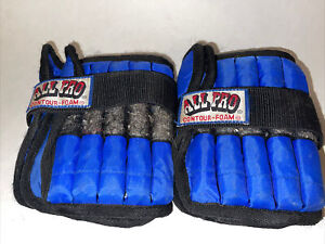 All Pro Contour Foam Adjustable Ankle Wrist Weights 5lbs Each, 10lbs For Both
