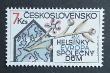 Czechoslovakia (1990) Helsinki Conference 15th Anniversary / Maps - Mint (MNH)