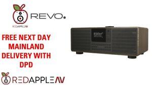 REVO SuperSystem DAB+ FM Radio Bluetooth Internet Radio USB Walnut/Black