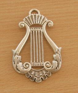 Masonic Vintage Silver Organist Collar Jewel ( STFH -AE)