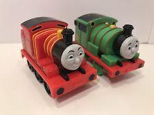 ERTL Thomas The Tank Engine #1 #6 Train Car Pull Back Release Toy 1985 Works Vtg