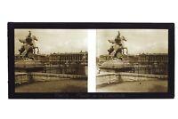 Place Da La Concorde Parigi Francia Foto Stereo 11n3 Placca Da Lente Vintage