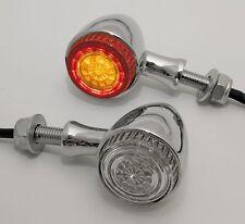 LED Rücklicht/Blinker Einheit Colorado für Kawasaki Modelle Egeprüft 1Paar Chrom
