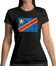 Democratic Republic of the Congo Grunge Style Flag - Womens T-Shirt - Country