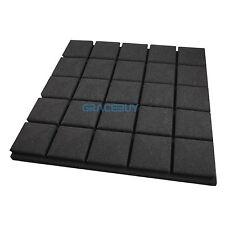 12 Pack Acoustic Panel Foam Tiles Studio Soundproof Treatment Sponge 50x50x5 cm
