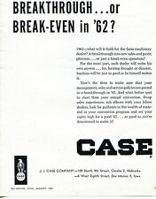 1962 Dealer Print Ad of JI Case Tractor Company Breakthrough or Break-Even?