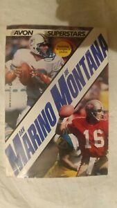 Avon Superstars - Joe Montana & Dan Marino. Book - 1985