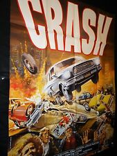 CRASH !   affiche cinema 1977 , cars , voiture ford mustang , racing , rallye
