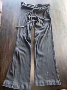 Hard Tail Yoga Pants Black Stretch Flared Leg One Size