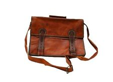 Genuine Leather Handmade Brown Messenger Shoulder Bag Satchel - Laptop tablet 34