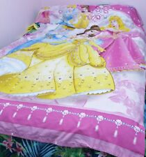 DISNEY PRINCESS BELLE,CINDERELLA AURORA DUVET QUILT COVER & PCASE SINGLE PINK EX