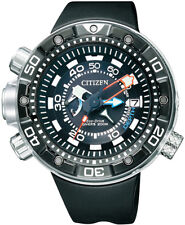 Citizen Mens Promaster Aqualand. Steel Solar Watch. Marine Sports. BN2024-05E