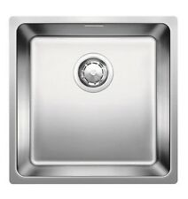 Blanco ANDANO INSET/FLUSHMOUNT SINK 45cm Overflow & Waste, Stainless Steel