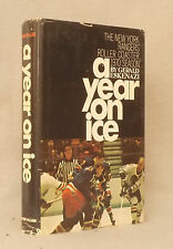 1970 A YEAR ON THE ICE Gerald Eskenazi NEW YORK RANGERS First Edition VERY RARE
