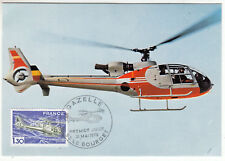 CARTE MAXIMUM FDC 1975 TIMBRE N° 1805 HELICOPTERE GAZELLE