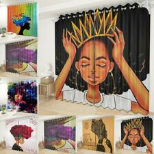 2 Panels African Woman Window Curtains Decorative Drapes for Living Room Bedroom
