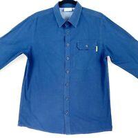 Kathmandu Men's Size Medium Blue Long Sleeve Casual Button Up Shirt