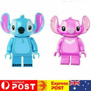 2PCS Stitch Lilo and Angel Disney Custom Minifig Mini Minifigure Figure