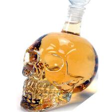 1000ML Crystal Skull Head Whiskey Shot Home Creative Bar Glass Bottle Decanter