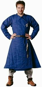 Best Item New Medieval Gambeson blue Color Movies Theater Custome Sca larps