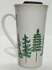 Starbucks Tall Ceramic Mug/Cup lid 14.3 fl. oz. Christmas/Winter Evergreens 2015