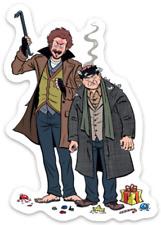 Home Alone Sticky  / Wet Bandits Marv & Harry Cartoon Die-Cut MAGNET