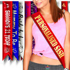 Personalised Sash Printed Hen Do Gift Bride 18th 21st Celebration Birthday Party
