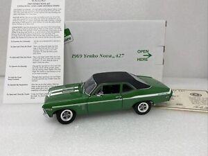 1/24 Danbury Mint 1969 Yenko Nova 427 Rallye Green Read Me