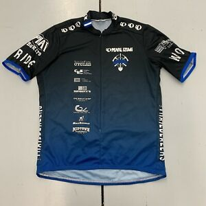 Vintage Pearl Izumi Tarheel Trailblazers Cycling Jersey Shirt Zip Up Mens Sz 2XL