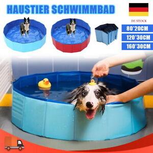 Hundepool Plantschbecken Kinder Pool Baby Hundebad Faltbar Ø60/80/120/160 cm