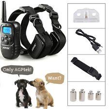 AGPtek® Recharge Waterproof LCD 100LV Shock Vibra Remote 2 Dog Training Collar
