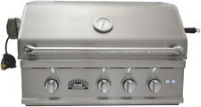 Sole 32 Inch Luxury Tr Natural Gas Grill with Lights and Rotisserie